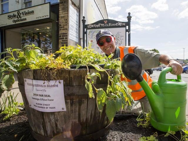 Pete Fawcett is Cleckheaton's secret gardener.