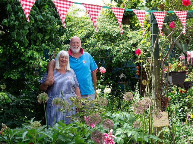 Janet and Iain Astle hosted a garden party for the Great Get Together in the garden of their home in Cleckheaton