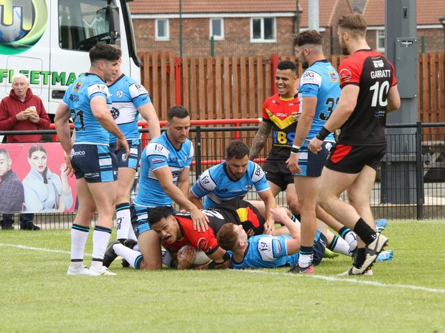 RESULT: Dewsbury Rams 24-68 Featherstone Rovers. Picture: Thomas Fynn.