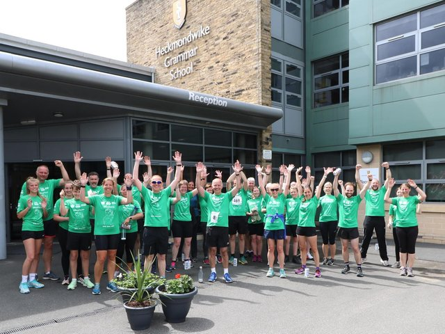 Teachers and students at Heckmondwike Grammar School took part in the annual Run for Jo event, in memory of former Head Girl Jo Cox