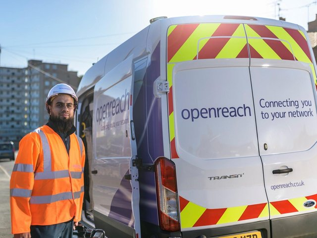 People living and working in Batley and Dewsbury are set to benefit from Openreach's national upgrade plan