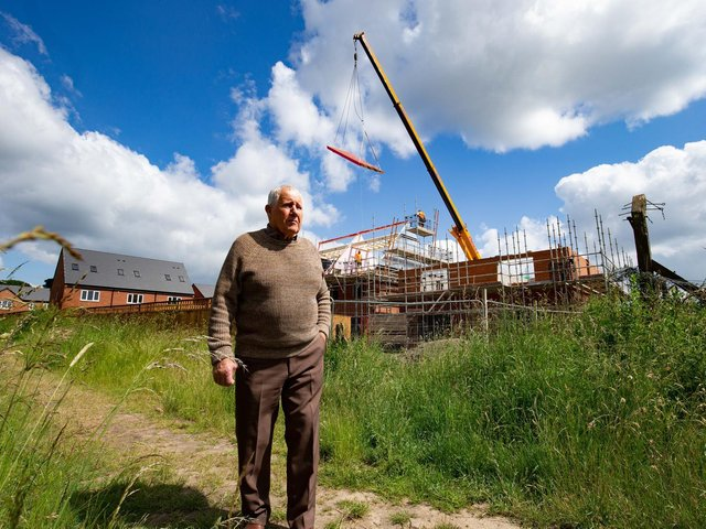 George Silverwood is extremely disappointed to have factories and housing built all around his home in Mirfield