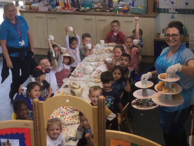 Staff and children at St John's Under Fives Pre-School in Dewsbury held an afternoon tea as part of Cupcake Day for the Alzheimer's Society