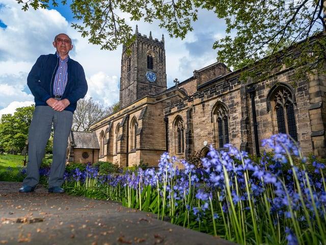 Brian Pearson, chairman of Thornhill Parish Church's fabric committee