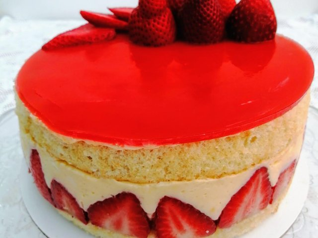 Karen Wright's Fraisier cake, a patisserie favourite that looks and tastes delicious