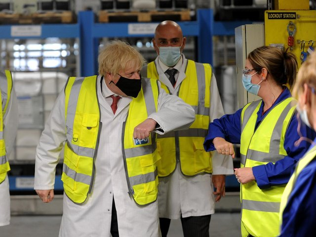 12 pictures of Prime Minister Boris Johnson as he visits Birstall