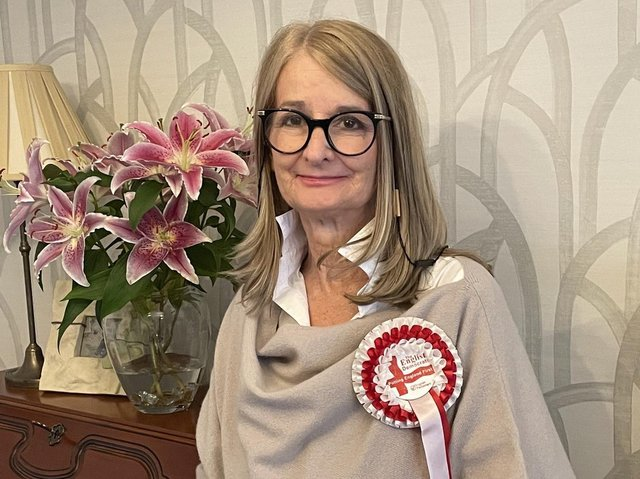 Thérèse Hirst, the English Democrats' candidate in the Batley and Spen by-election