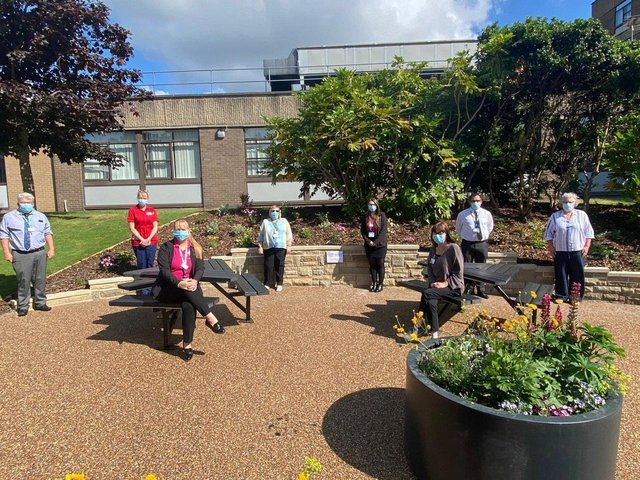 The new Staff Wellness Garden has opened at Dewsbury and District Hospital