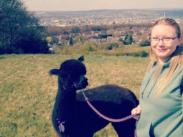 Clare Davies is walking from Mirfield to Haworth as part of her One Million Steps challenge