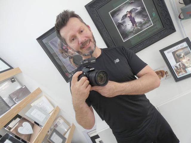Jonathan Wall has run Photoshoot studio on Market Street in Heckmondwike for more than 20 years.