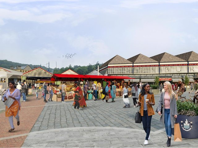 An artist's impression of the revamped Dewsbury Market, one of the projects that forms the Blueprint regeneration scheme