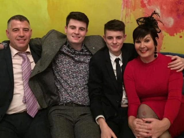 Jason and Natalie Audsley with their sons Elliott and Lucas