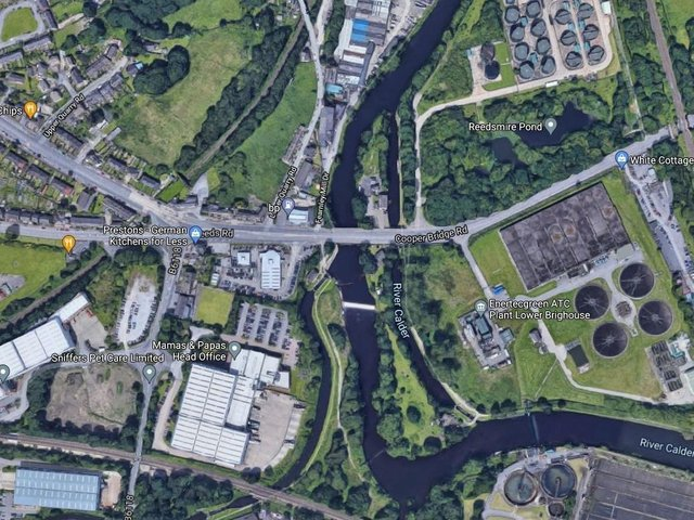 An aerial view of the A62 to Cooper Bridge Corridor Improvement Scheme. Photo: Google