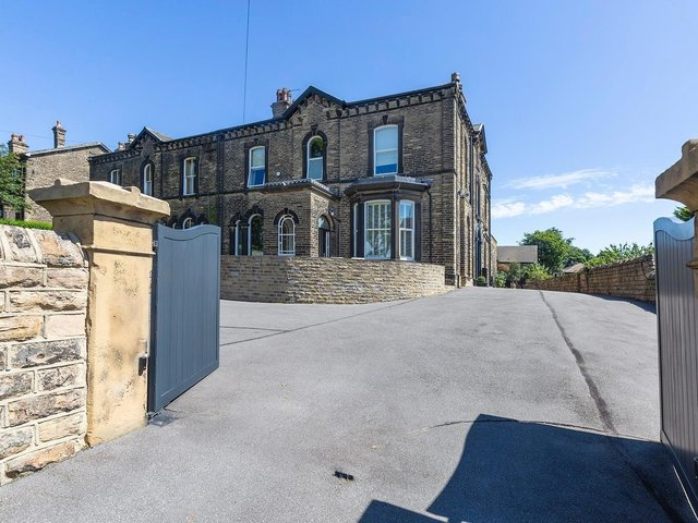 The approach to the Mirfield property