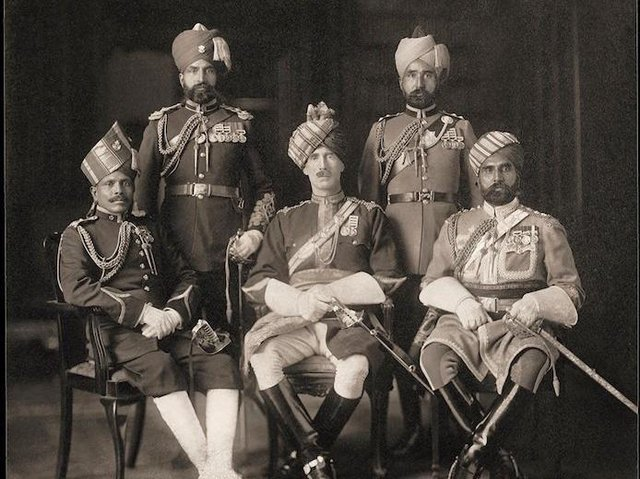A group photo of King's Bengal Orderly Officers